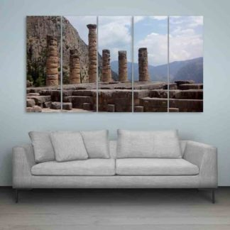 Multiple Frames Beautiful Ancient Ruins Wall Painting (150cm X 76cm)