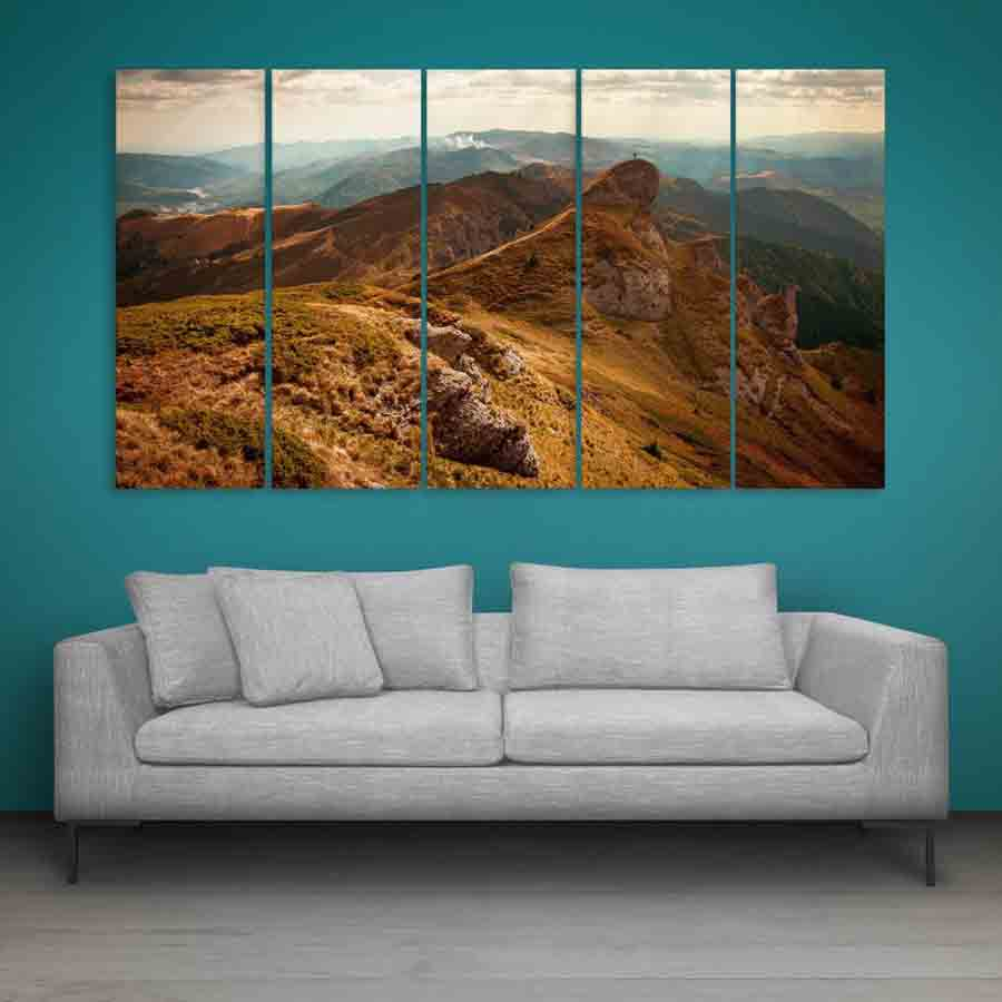 Multiple Frames Beautiful Mountains Nature Wall Painting