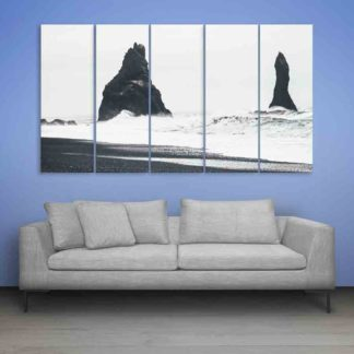 Multiple Frames Beautiful Nature Wall Painting (150cm X 76cm)