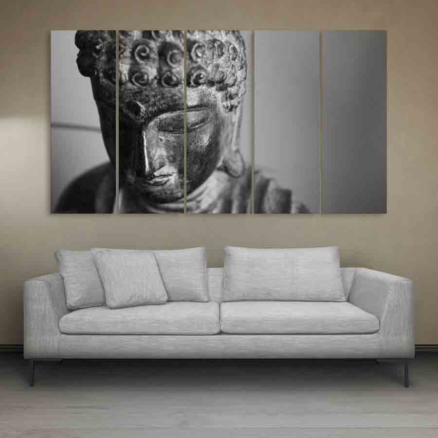 Multiple Frames Buddha Beautiful Wall Painting (150cm X 76cm) - Inephos