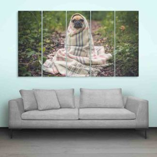 Multiple Frames Beautiful Dog Wall Painting (150cm X 76cm)