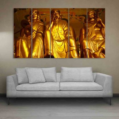 Multiple Frames Buddha Beautiful Wall Painting (150cm X 76cm)
