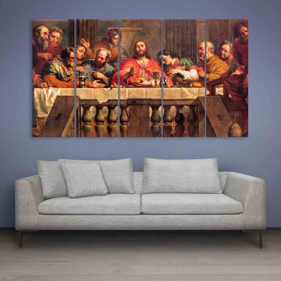 The Last Supper Wall Art multiple frames jesus the last supper wall painting (150cm x 76cm