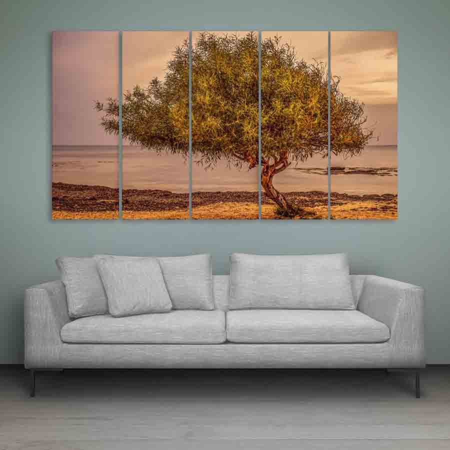 Multiple frames beautiful tree wall painting 150cm x 76cm inephos - A beautiful painting on wall ...