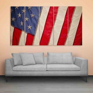 Multiple Frames USA Flag Wall Painting for Living Room, Bedroom, Office, Hotels, Drawing Room (150cm X 76cm)