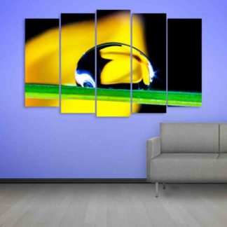 Multiple Frames Water Droplet Wall Painting (150cm X 76cm)
