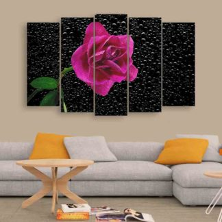 Multiple Frames Beautiful Flower Wall Painting (150cm X 76cm)