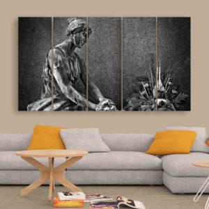 Multiple Frames Sculpture Wall Painting for Living Room, Bedroom, Office, Hotels, Drawing Room (150cm X 76cm)