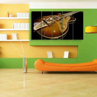 Multiple Frames Beautiful Guitar Wall Painting (150cm X 76cm)