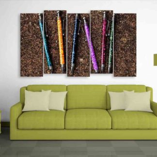 Multiple Frames Beautiful Pens Wall Painting (150cm X 76cm)