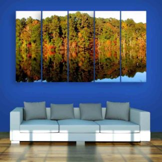 Multiple Frames Beautiful Nature Scenery Wall Painting For Living Room Bedroom Office Hotels Drawing Room 150cm X 76cm