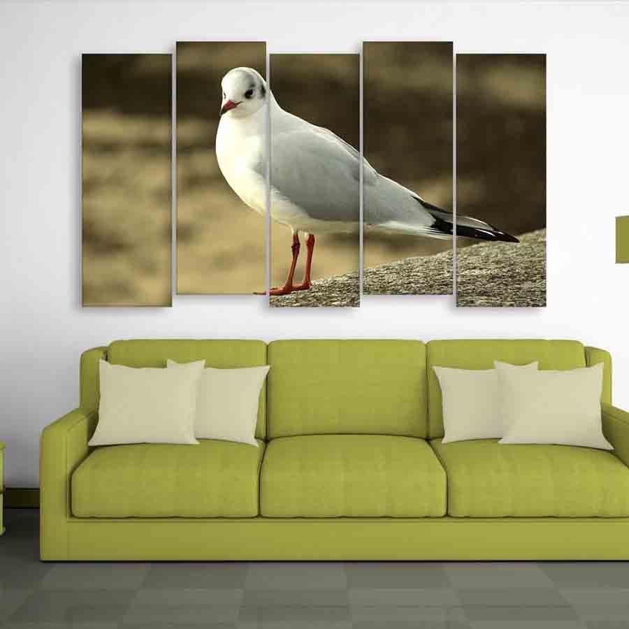 Multiple Frames Beautiful Bird Wall Painting (150cm X 76cm) - Inephos