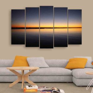 Multiple Frames Sunrise Wall Painting for Living Room, Bedroom, Office, Hotels, Drawing Room (150cm X 76cm)