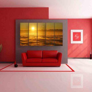 Multiple Frames Sunrise Wall Painting (150cm X 76cm)