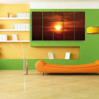 Multiple Frames Sunset Wall Painting (150cm X 76cm)
