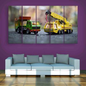 Multiple Frames Toys Wall Painting for Living Room, Bedroom, Office, Hotels, Drawing Room (150cm X 76cm)