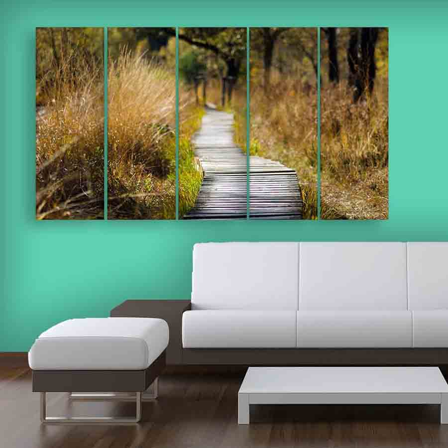 Multiple Frames Nature Wall Painting For Living Room Bedroom Office Hotels Drawing Room 150cm X 76cm
