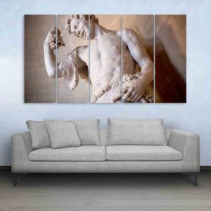 Multiple Frames Greek Scenery Wall Painting for Living Room, Bedroom, Office, Hotels, Drawing Room (150cm X 76cm)