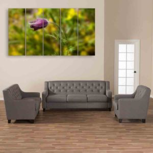 Multiple Frames Beautiful Flower Wall Painting for Living Room, Bedroom, Office, Hotels, Drawing Room (150cm X 76cm)
