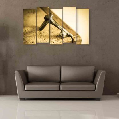 Multiple Frames Ancient Key Wall Painting (150cm X 76cm)