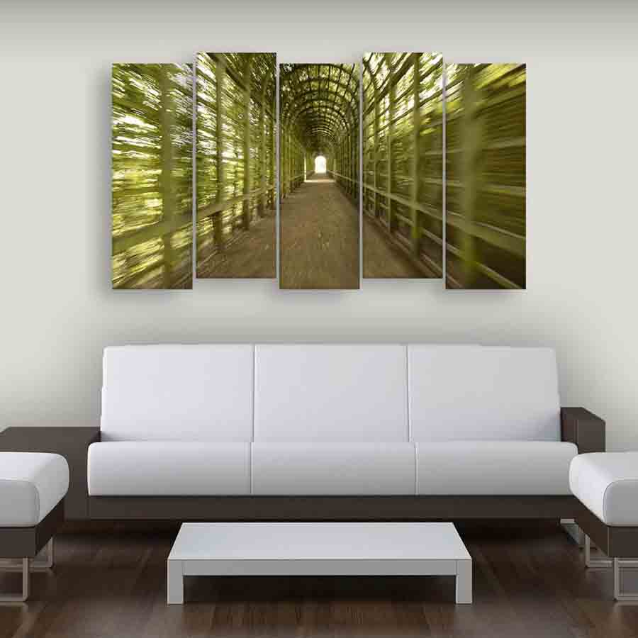 Multiple Frames Nature Wall Painting (150cm X 76cm) - Inephos