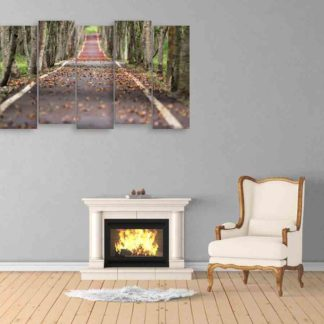 Multiple Frames Road Wall Painting (150cm X 76cm)