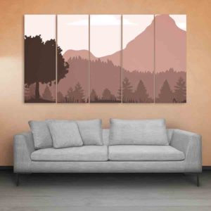 Multiple Frames Landscape Wall Painting for Living Room, Bedroom, Office, Hotels, Drawing Room (150cm X 76cm)