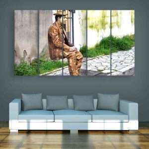 Multiple Frames Statue Wall Painting for Living Room, Bedroom, Office, Hotels, Drawing Room (150cm X 76cm)