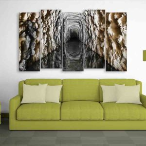 Multiple Frames Tunnel Wall Painting for Living Room, Bedroom, Office, Hotels, Drawing Room (150cm X 76cm)