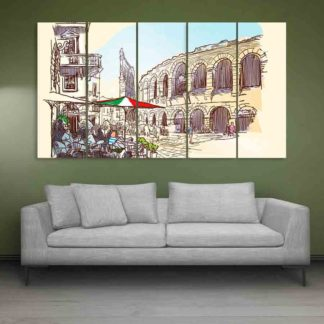 Multiple Frames Verona Italy Art Wall Painting (150cm X 76cm)