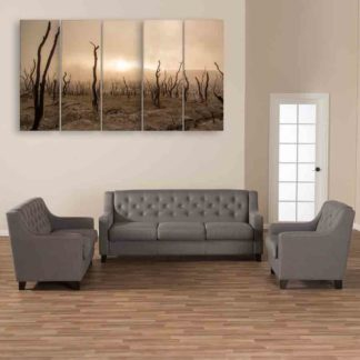 Multiple Frames Nature Barren Field Wall Painting (150cm X 76cm)