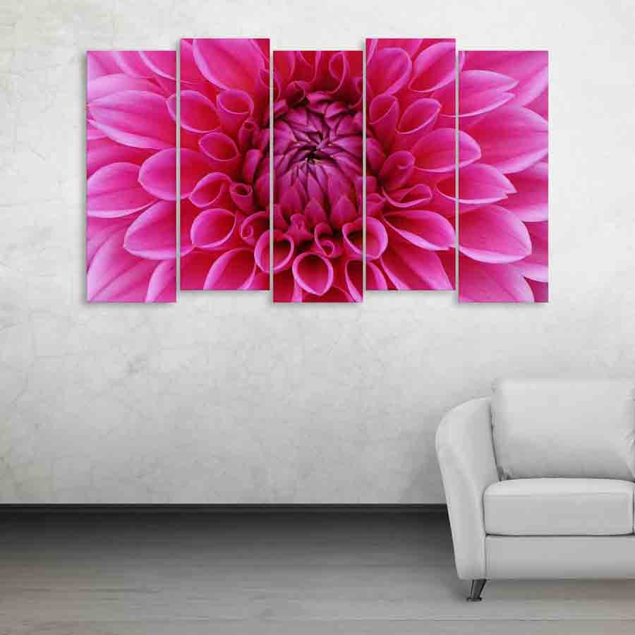 Multiple Frames Beautiful Flower Wall Painting 150cm X 76cm Inephos