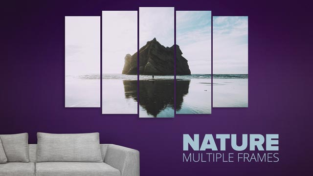 nature multiple frames wall paintings