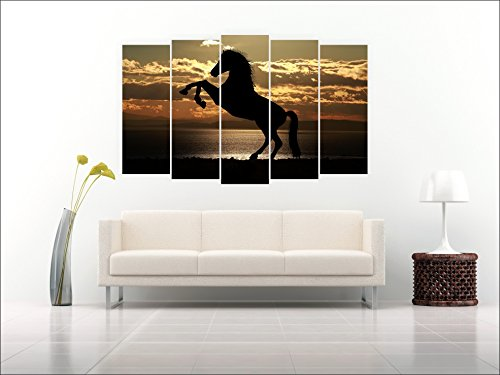 Multiple Frames Horse Polygon Wall Painting (150cm X 76cm) - Inephos