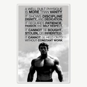 Arnold Schwarzenegger Gym Quotes Poster Art | Gym Motivation Posters