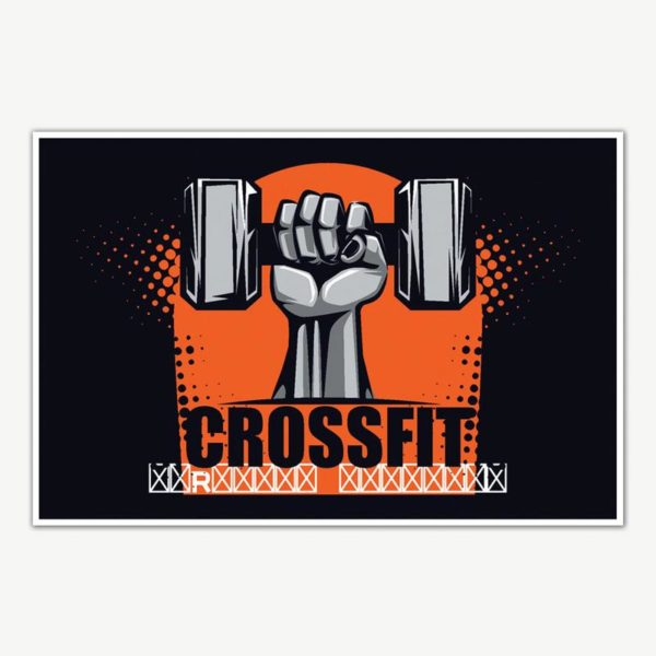 Crossfit Gym Poster Art   Gym Motivation Posters