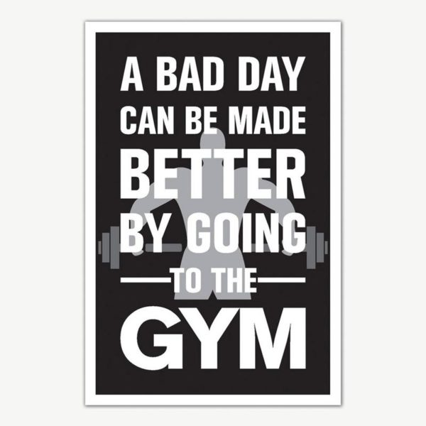 Gym Fitness Quotes Poster Art | Gym Motivation Posters