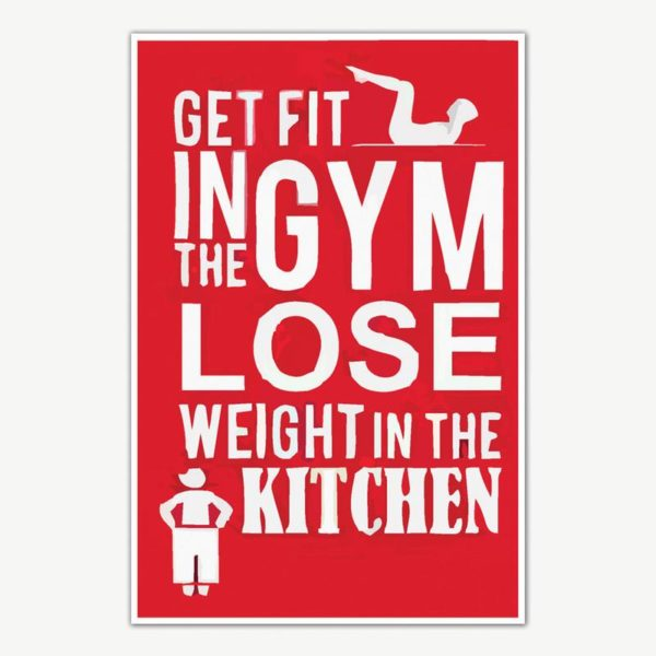Get Fit Lose Weight Gym Quotes Poster Art | Gym Motivation Posters