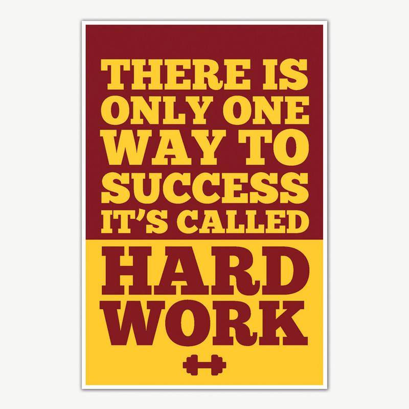 Gym Motivational Quotes | Hard Work Gym Quotes Poster Art Gym Motivation Posters Inephos