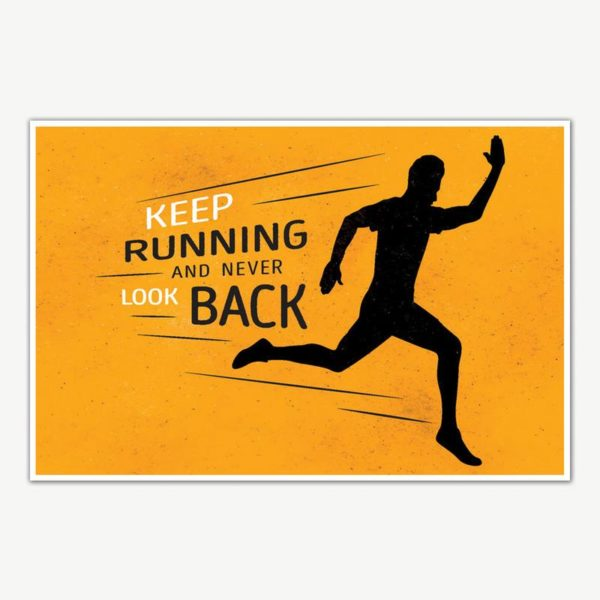 Keep Running Gym Quotes Poster Art | Gym Motivation Posters