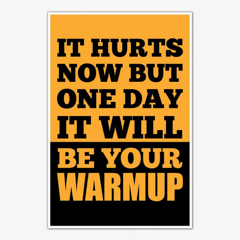 it hurts now fitness poster art gym motivation posters inephos