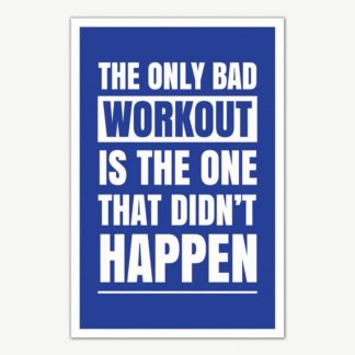 Workout Quote Poster Art | Gym Motivation Posters