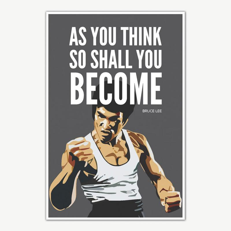 Bruce Lee As You Think Quote Poster Art Inspirational