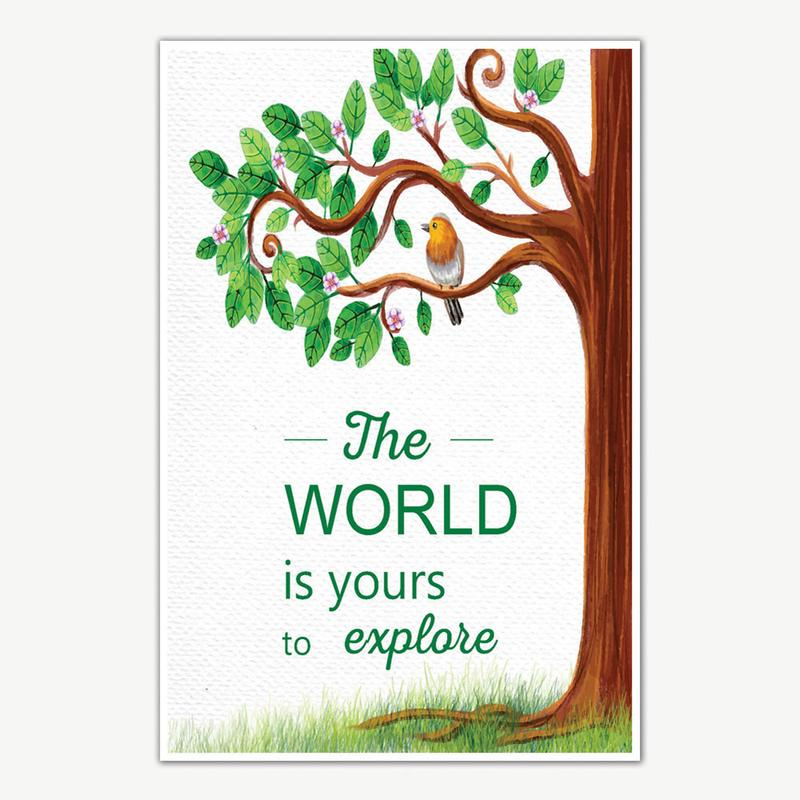 explore the world quote poster art motivational posters