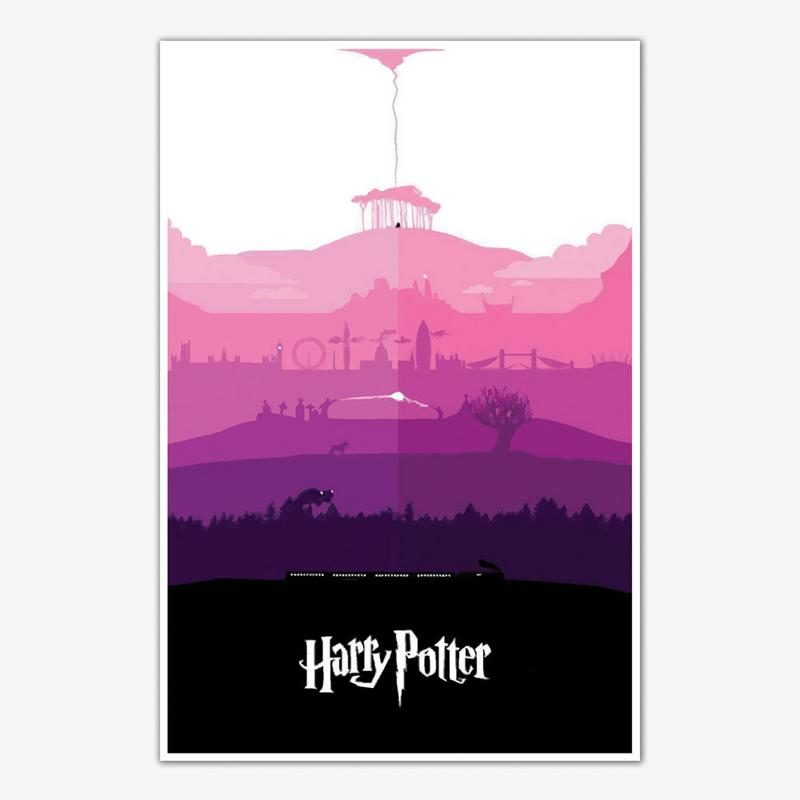 Harry Potter Movie Series Poster For Room