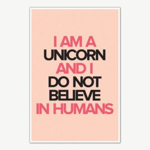 I am Unicorn Quote Poster Art | Motivational Posters For Room