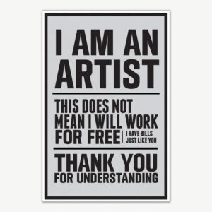 I am an Artist Quote Poster Art | Motivational Posters For Room