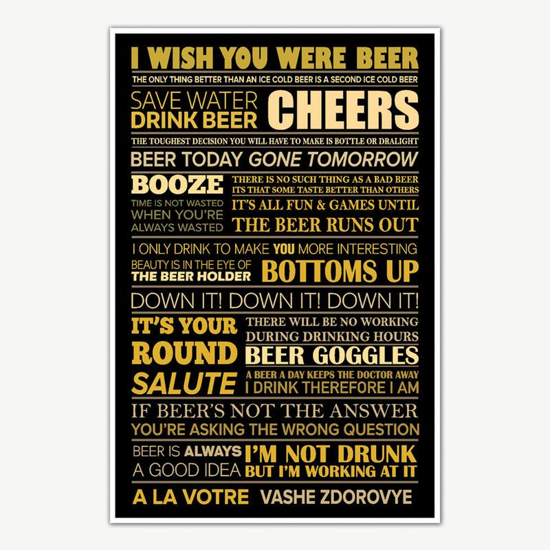 i wish you were beer quotes poster art funny posters for room