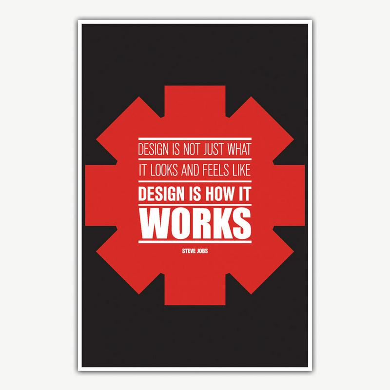 Steve Jobs Design Is How It Works Poster Art