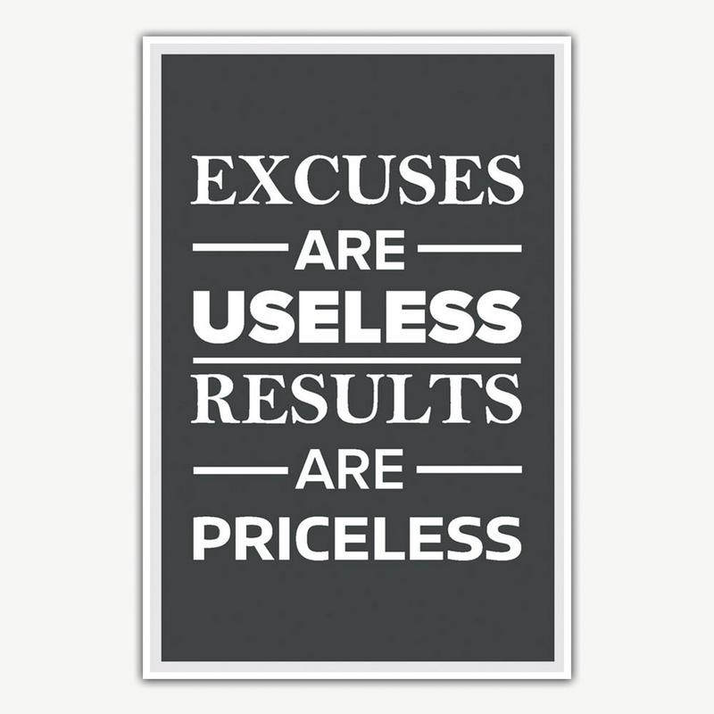 1b99655fb058 Excuses Are Useless Poster